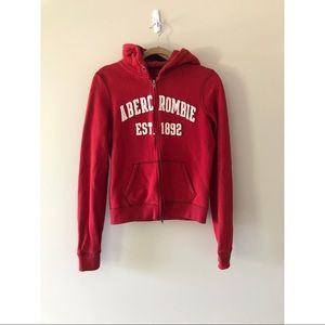 Abercrombie & Fitch Classic Zip Up Hoodie Large